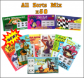 All Sorts Mix - 50 Pack Fake Scratchies
