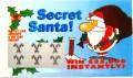 Secret Santa Christmas Holiday Fake Scratchies