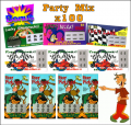 Party Mix - 100 Pack Fake Scratchies